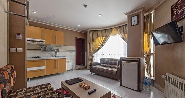 هتل آپارتمان قصر آیدین مشهد، تنها با ۸ الی ۱۰ دقیقه پیاده روی تا حرم مطهر | مشهد سرا